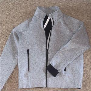 Lululemon Gray Zip Up sweater with cinching